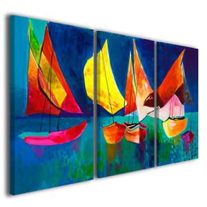 Quadri astratti moderni Barche a vela arredamento casa moderna stampa su tela