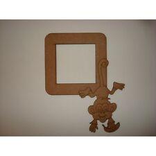 Cheeky Monkey LIGHT SWITCH Surround - 3mm MDF in legno Craft Forma Bianco