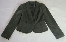 The Limited Collection Womens Blazer Size M Brown Tweed Grosgrain Ribbon Detail