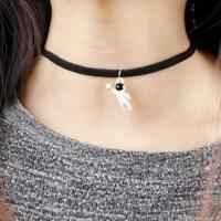 Cartoon Space Star Astronaut Necklace Pendant Fashion Jewelry Creative Design
