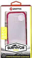 Griffin Survivor Clear Case for Samsung Galaxy S7 Clear Hard Back / Pink Bumper