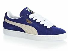 Mens Womens Puma Suede Classic Trainers Shoes Unisex - Blue/Purple - UK 7