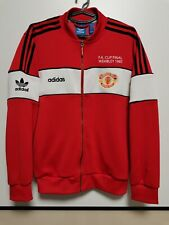 SIZE L MANCHESTER UNITED RETRO REPLICA 1985 CUP FINAL TRACK JACKET ADIDAS