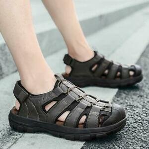 Mens Closed toe Hollow out Slingback Summer Beach Sandals Casual Holiday Shoes