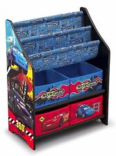 Bücherregal Spielzeugkiste Kinderregal Spielzeugboxen Disney Cars Holzregal Holz