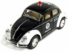 "5"" Diecase Classic Volkswage 1967 Beetle Police car 1:32 Scale (Black/White)"
