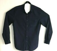 Trenery Men's Long Sleeve Blue 100% Cotton Shirt Size M