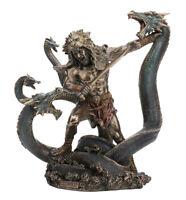 "12.5"" Hercules Battling The Hydra Statue Sculpture Roman Hero Mythology"