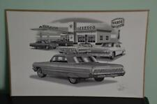 "Thom SanSoucie Chevy 1964 Impala Flashback Black And White Print 11""x 17"" {1401}"