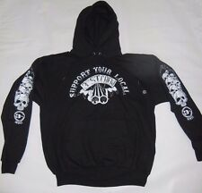 Support 81 3rd St Crew HELLS ANGELS NYC New York Hooded Pullover Sweatshirt LGE