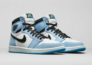 SIZE 7Y GS CONFIRMED: Nike Air Jordan 1 Retro High OG University Blue ~ Free 📦
