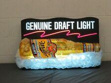 Rare Large Vintage Miller Genuine Draft Light Wall Hanging Beer Bottle Light