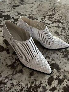matisse Vigo white leather booties NEW sz  8.5