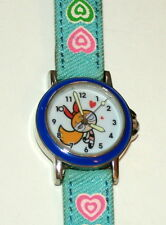 True Vintage PowerPuff Girls Blossom Analog Blue Bezel Watch New 2002 Nos Tags