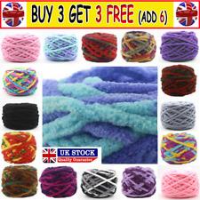 100G skeins yarn Chunky Crochet chenille Milk Soft velvet Knitting Wool CW UK