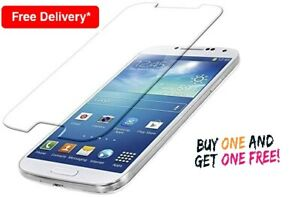 2 in 1 Pack Genuine Tempered Glass Screen Protector for Samsung Galaxy S4