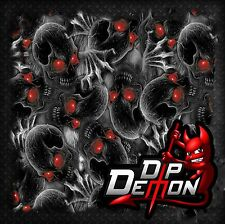 RED EYE BOOGEYMAN SKULL DIP DEMON HYDROGRAPHIC WATER TRANSFER FILM HYDRO DIPPING