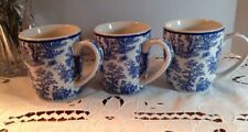 Waverly - Country Life - Coffee Mugs - Blue - Set of THREE - 3 - Vintage