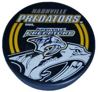 NASHVILLE PREDATORS VINTAGE SHADOW LOGO PUCK NHL INGLASCO + VEGUM MFG. 🇸🇰