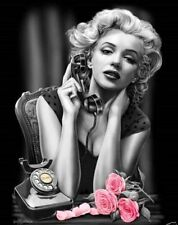 DGA Marilyn Monroe Pink Rose Stretched Canvas Wall Art 12x16 Inches Heartbreaker
