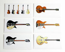 John Lennon's Guitars, Pack of 6 Greeting Cards, DL size