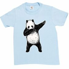 1Tee Kids Boys Dabbing Panda T-Shirt