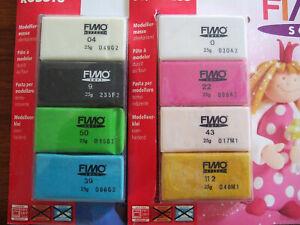 Staedtler 8 Fimo soft verschiedene Farben mit Anleitung original verpackt