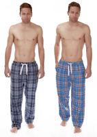 CARGO BAY Mens Lounge Pants PJ Pyjama Bottoms Check Print Jersey Lined Waist