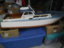 """Best 46"""" Wood Cabin Cruiser Fs-60 4 stroke gas,Best you'll Very Large 1980's"""