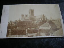 Cdv old photograph view of Lincoln cathedral by Slingsby c1870s