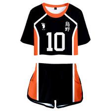 Haikyuu!! Karasuno High School Uniform Shoyo Hinata Cosplay Girl Shirt Shorts