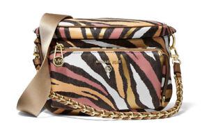 Michael Kors Women Slater Sling Pack Messenger Bag In Brown Multi
