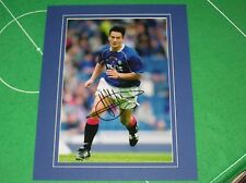 Glasgow Rangers Michael Mols Signed & Mounted Action Photograph