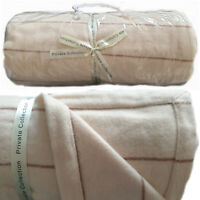 Apollo Coffee Wool Blanket by Private Collection | Luxuriously Soft | Single