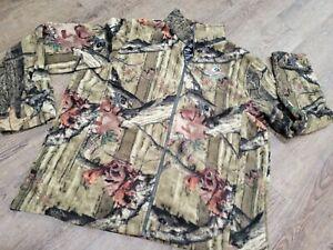 Mossy Oak Men Camo Fleece Jacket Zip Up Break Up Infinity XL