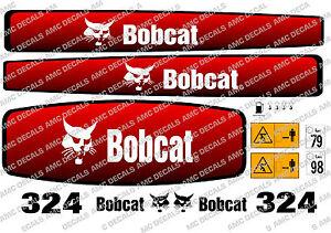 BOBCAT 324 MINI DIGGER COMPLETE DECAL STICKER SET