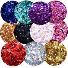 Glitter (39,00€/100g) Glitzer Pailetten 1mm SILBER Holo 10g basteln BEUTEL NEU