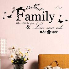 Wandaufkleber Wandtattoo Wandsticker Love Family Dekor Deko