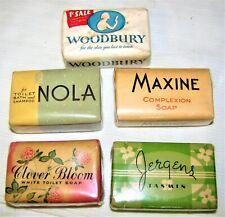 5--VINTAGE--BAR SOAPS--HAND / BATH--BEAUTY SOAP--TOILET SOAP--C