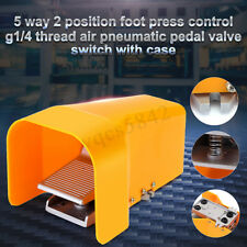 1/4'' NPTF Pneumatic Mechanical Foot Pedal Valve 5 Way 2 Position Control Switch