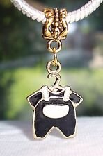 Baby Little Boy Outfit Son Clothes Gold Plated Dangle Bead for Charm Bracelet
