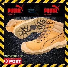 NEW! Puma Tornado 630787 Wheat Zip Side Safety Toe Cap Scuff Cap Boot