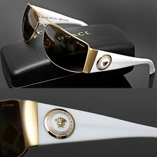 $470 GIANNI VERSACE Men's POLARIZED MEDUSA WRAP SUNGLASSES