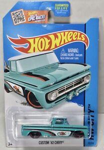 HTF Hot Wheels HW City Custom '62 Chevy 1/64 Diecast Truck