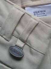 EQUETECH BREECHES MENS BEIGE SIZE 24-fREE P&P