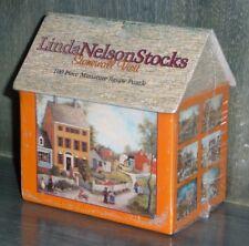LINDA NELSON STOCKS 100 Piece Miniature Jigsaw PUZZLE Cottage/House Shaped Box