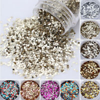 9Bottles Nail Art Glitter Sequin Champagne & Silver Champagne Flakes Decoration