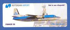 Fokker 50 KLM CityHopper  Rotterdam Airport Label