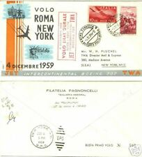 B04 ITALIA 1959 BUSTA PRIMO VOLO ROMA NEW YORK JET TWA