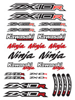 ZX-10R Ninja Motorcycle Racing Decals Stickers Set ZX10R ZXR Red Laminated /6